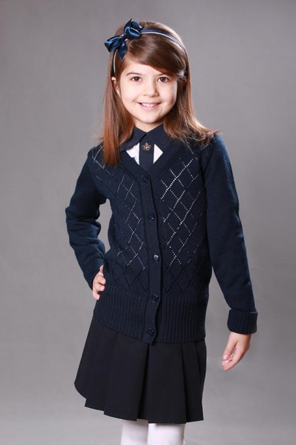 Жакет для девочки младшей школьной группы