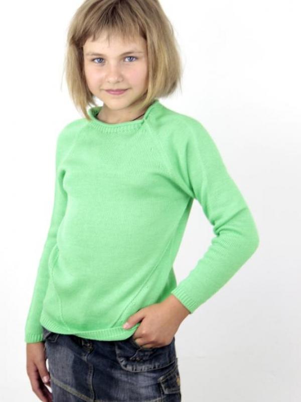 Джемпер для девочки дошкольной и младшей школьной групп